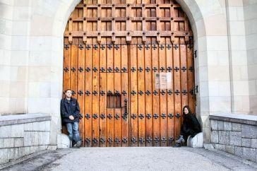 The entrance in Neuschwanstein Castle